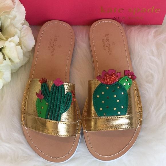7671fbecf354 Kate Spade Iguana Slide Sandals NWT